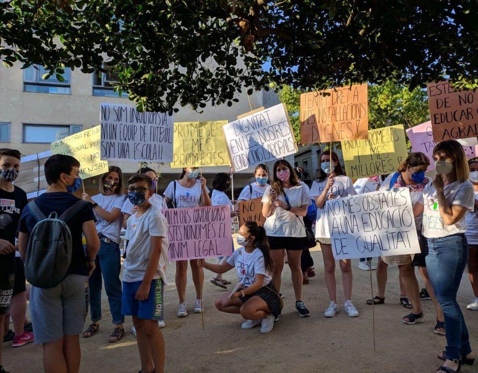 Manifestació escoles bressol Sol Solet La Lluna